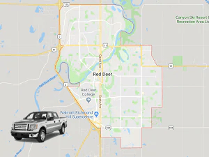 Directions from Red Deer